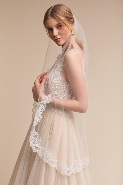 Paris by Debra Moreland Ivory Visionary Fingertip Veil | BHLDN