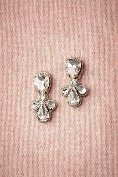 Silver Starbright Earrings | BHLDN