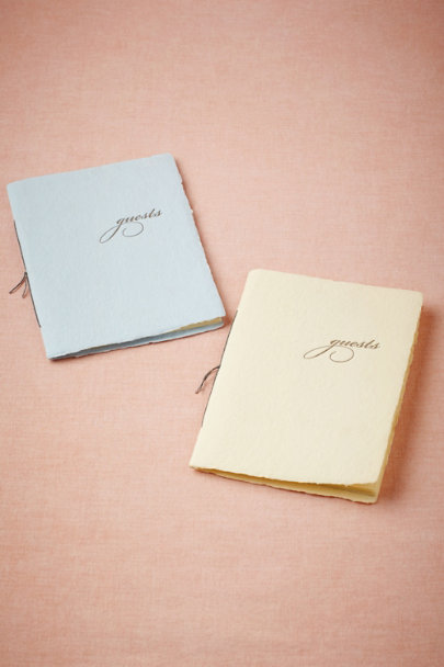 sky blue Mini Guestbook | BHLDN