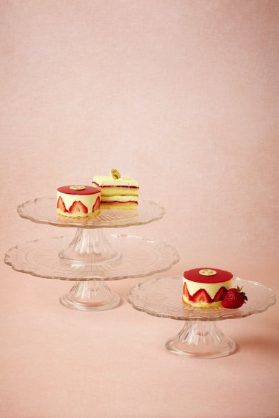 clear Clear Glass Cake Stands (3) | BHLDN