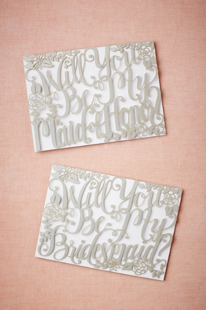 maid of honor Will You Be My Card | BHLDN