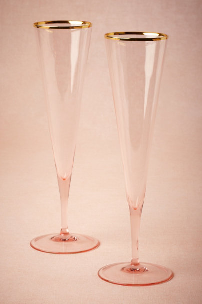 Blush Rosy-Cheeked Flutes (2) | BHLDN