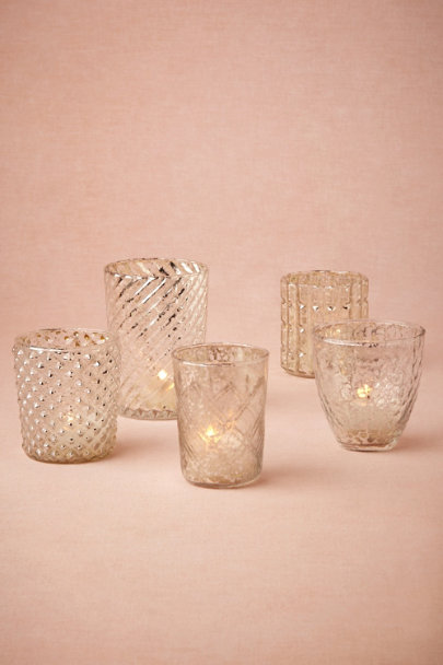 silver Bric-A-Brac Votives (5) | BHLDN