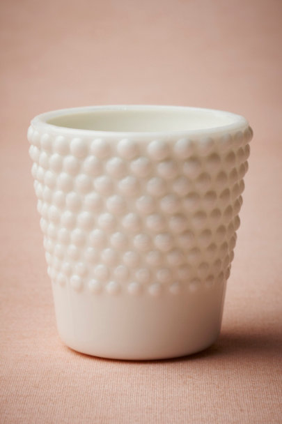 white Milk Glass Hobnail Votive | BHLDN