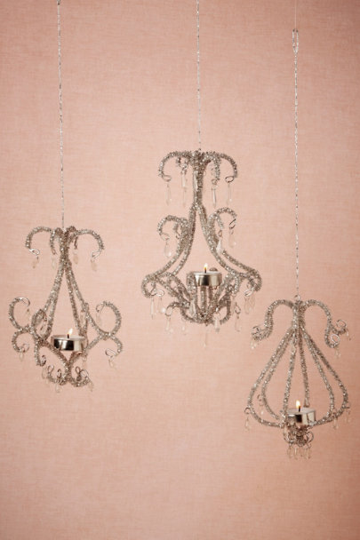 silver Icicle Chandelier Set (3) | BHLDN