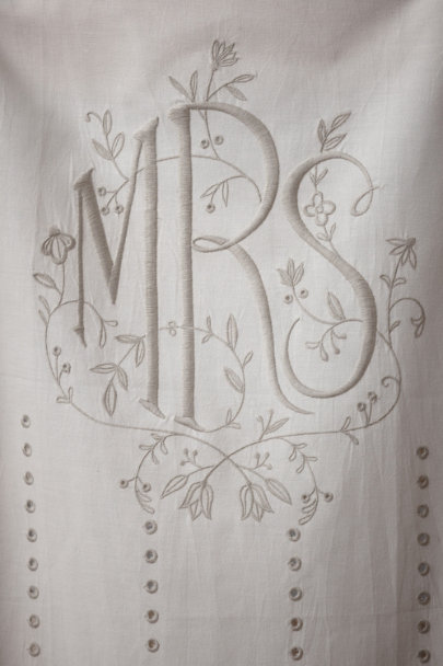 ivory Eyelet Chair Banners  | BHLDN