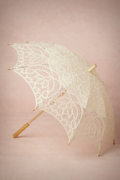 cream Picturesque Parasol | BHLDN