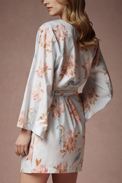 Plum Pretty Sugar Viviette Painted Petal Robe | BHLDN