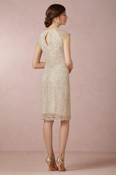 gold Shined Lace Shift | BHLDN
