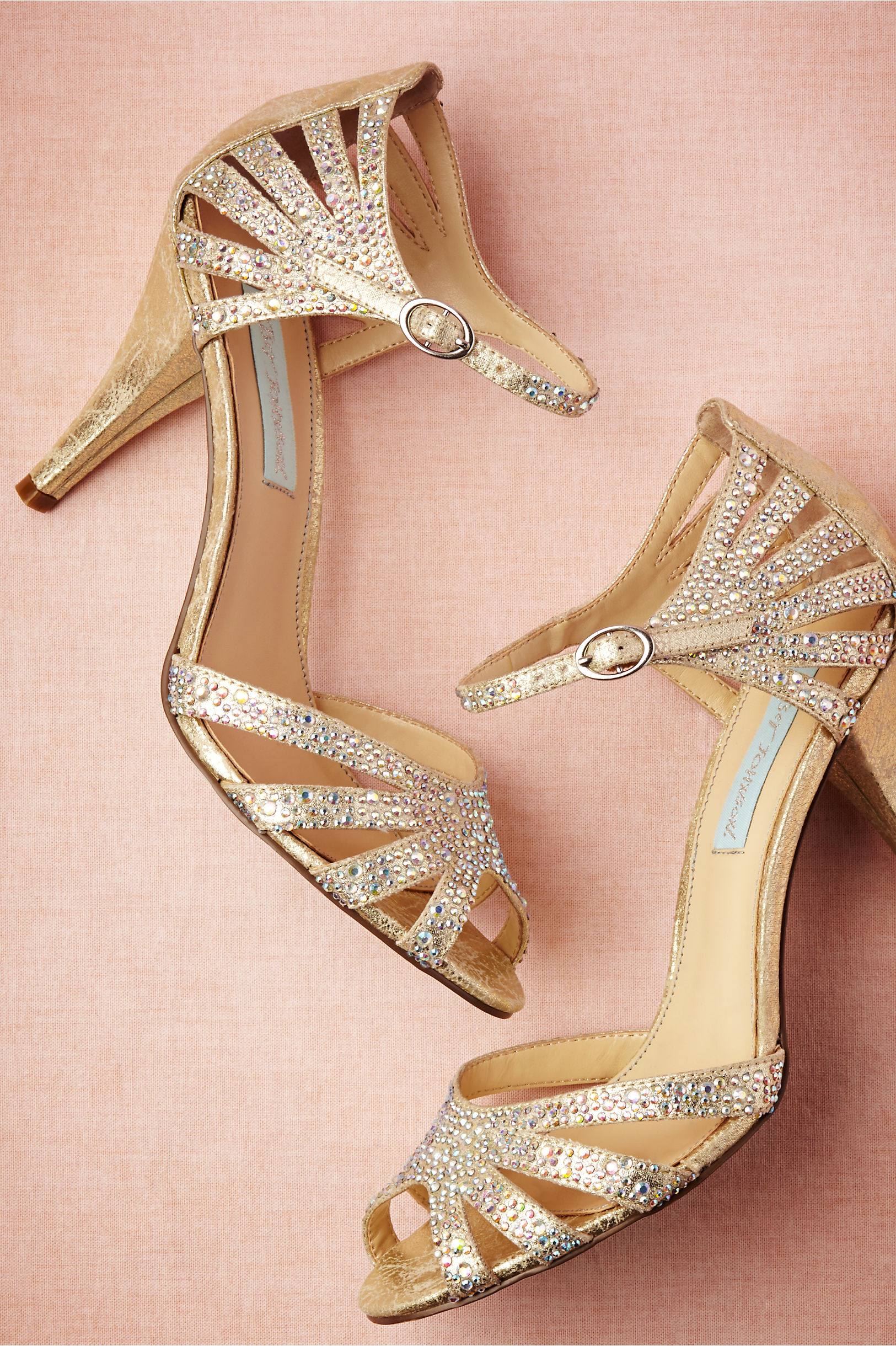 Champagne Sparkle Heels in Shoes & Accessories | BHLDN