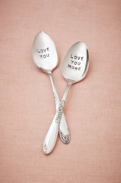 Silver Adoration Spoon Set | BHLDN