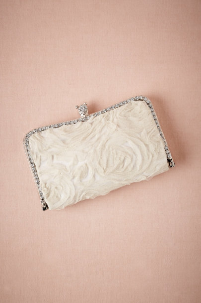 ivory Tulle Bloom Clutch | BHLDN