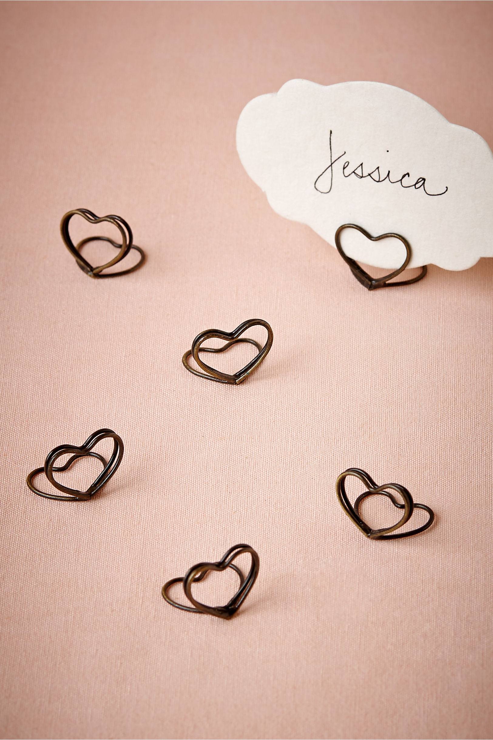 Heart Place Card Holders (6) in Sale | BHLDN