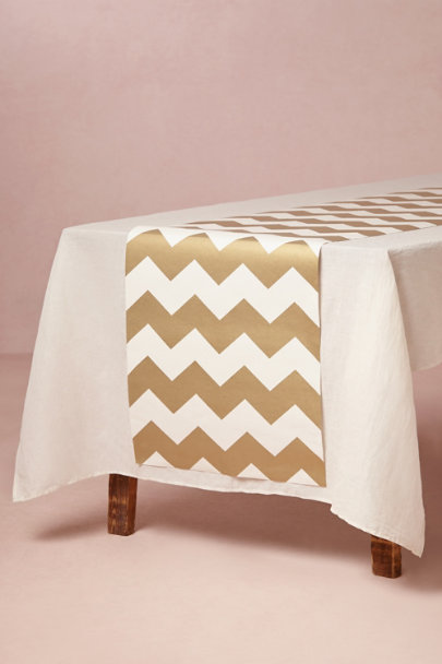 gold Gilded Chevron Runner | BHLDN