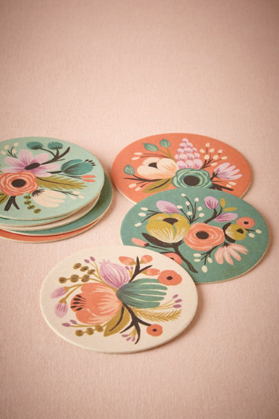 Rifle Paper Co. BOTANICAL MOTIF Vintage Bloom Coasters (8) | BHLDN