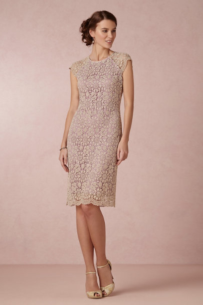 purple Shined Lace Shift | BHLDN