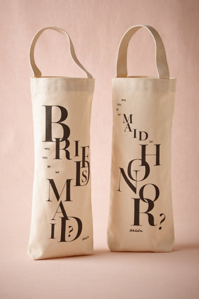 maid of honor Will You Be My...Wine Tote | BHLDN