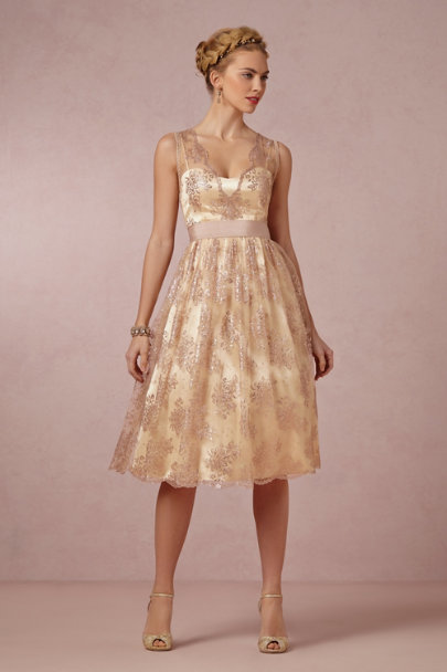 James Coviello rosegold Martine Dress | BHLDN