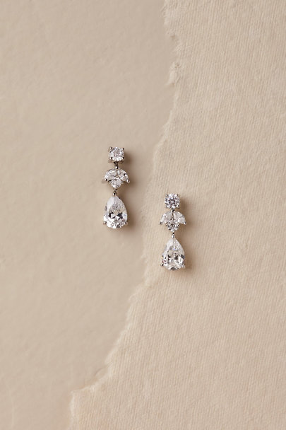 View larger image of Petite Crystal Drop Earrings