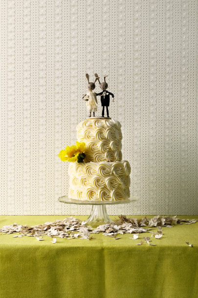 Ann Wood neutral Rabbit Rabbit Cake Topper | BHLDN