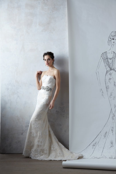 Roiled Crystal Sash in Bride | BHLDN