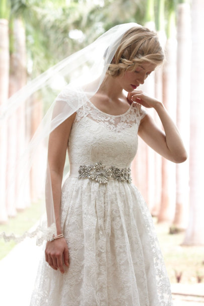 pearl Roiled Crystal Sash | BHLDN
