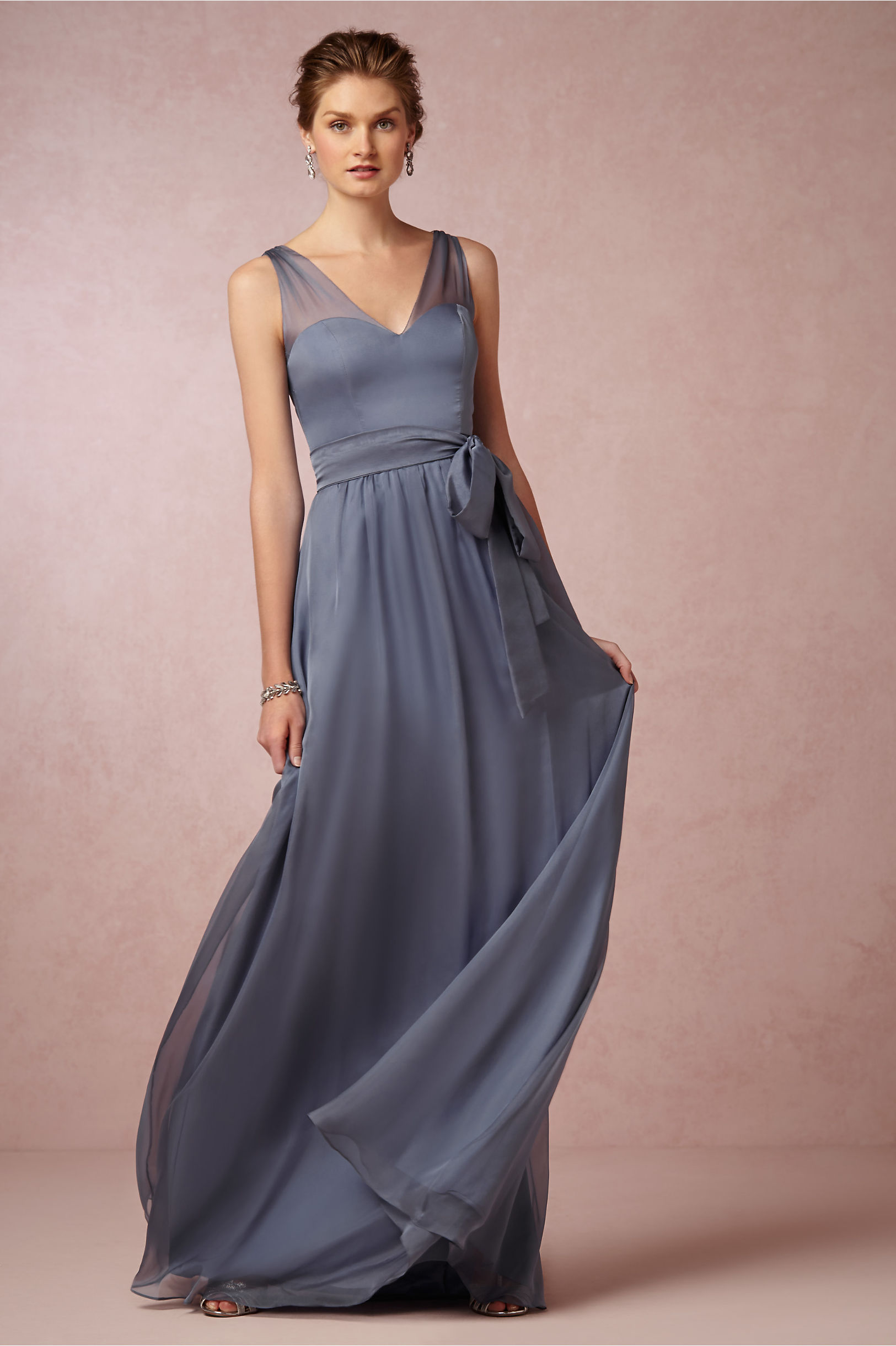 Josephine dress in bridal party bhldn steel blue josephine dress bhldn ombrellifo Gallery