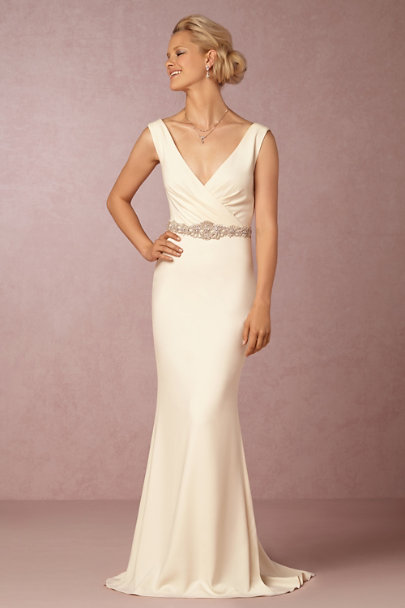 Badgley Mischka Cream Livia Gown | BHLDN