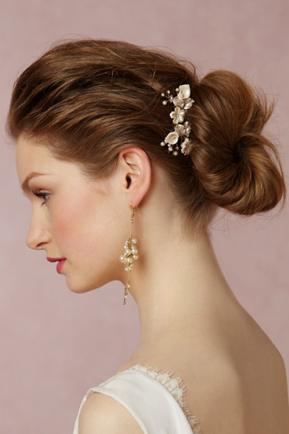 Twigs & Honey Pearl Petite Flora Hairpins (2) | BHLDN
