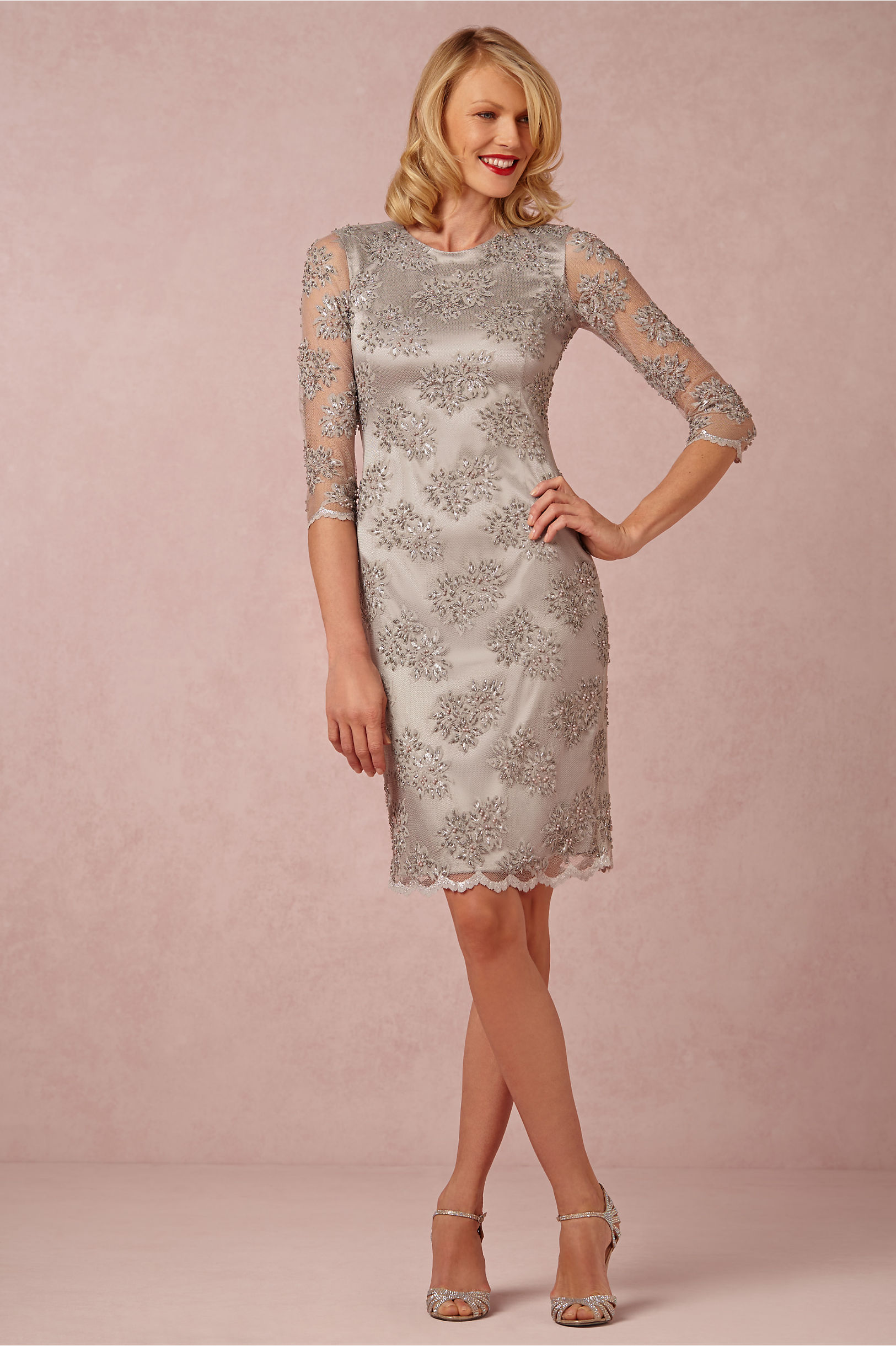 Mignon Doo Silver Crystaline Dress Bhldn