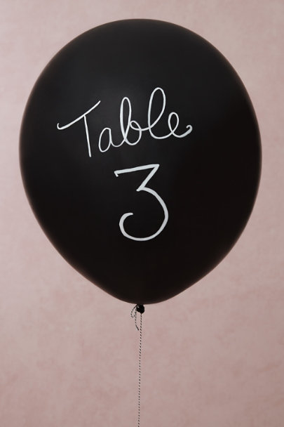 Black Chalkboard Balloon Kit (6) | BHLDN