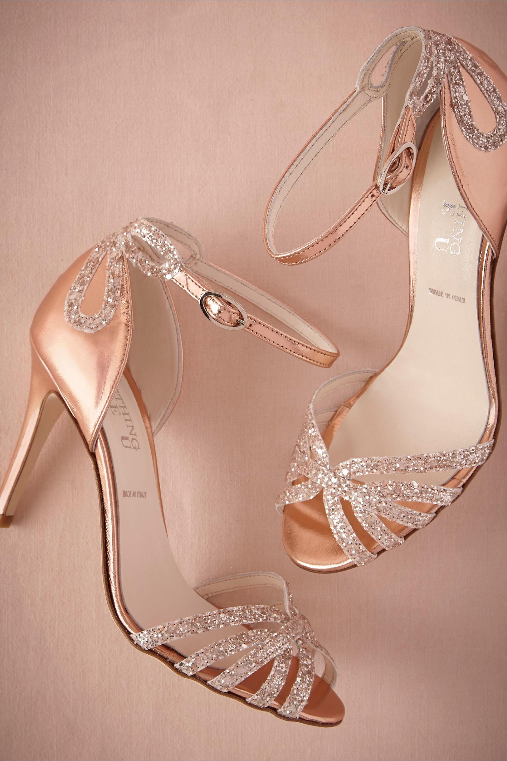 Rose Gold Glittered Heels Bhldn