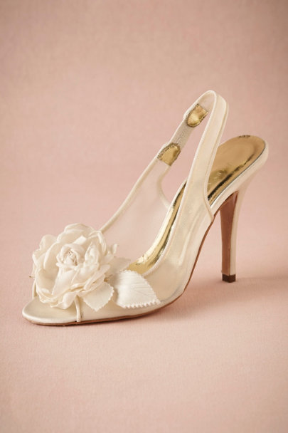ivory Garden Rose Slingbacks | BHLDN