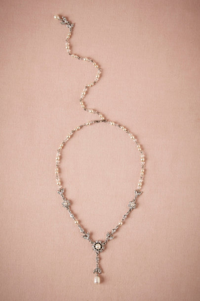 Ben-Amun Pearl Glinted Back Drape Necklace | BHLDN