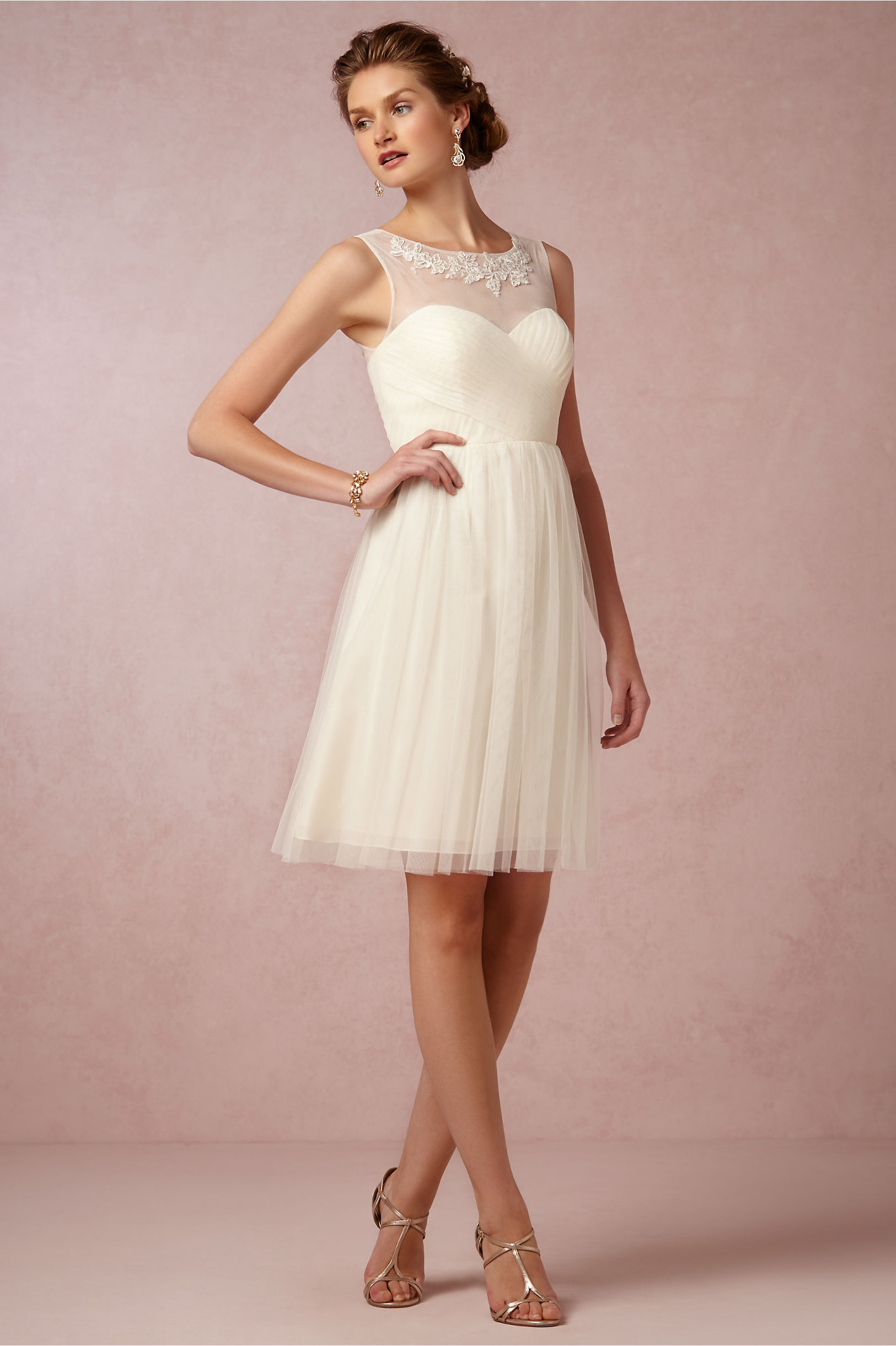 Jenny Yoo Ivory Chloe Dress Bhldn