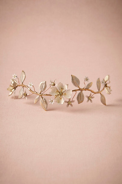 Debra Moreland NEUTRal motif Chrysanthos Hair Vine | BHLDN
