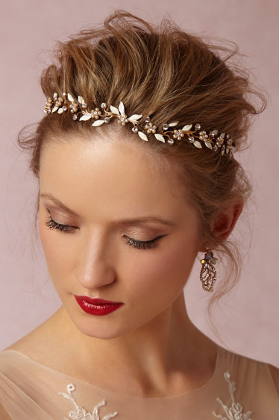 Debra Moreland Gold Bluebell Halo | BHLDN
