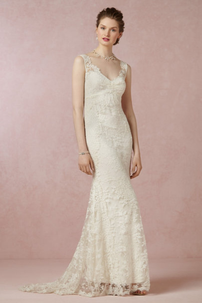 Nicole Miller ivory Marie Gown | BHLDN