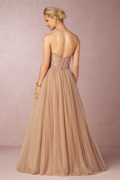 Watters blush Ahsan Skirt | BHLDN