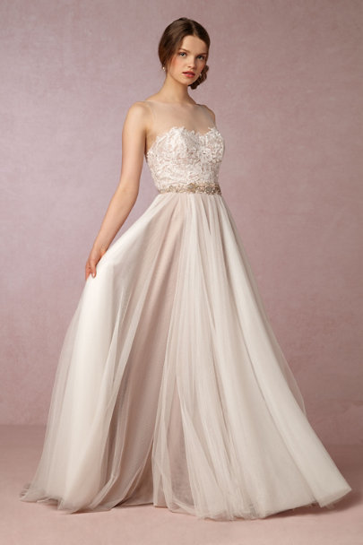 Watters Ivory/Bronze Penelope Gown | BHLDN