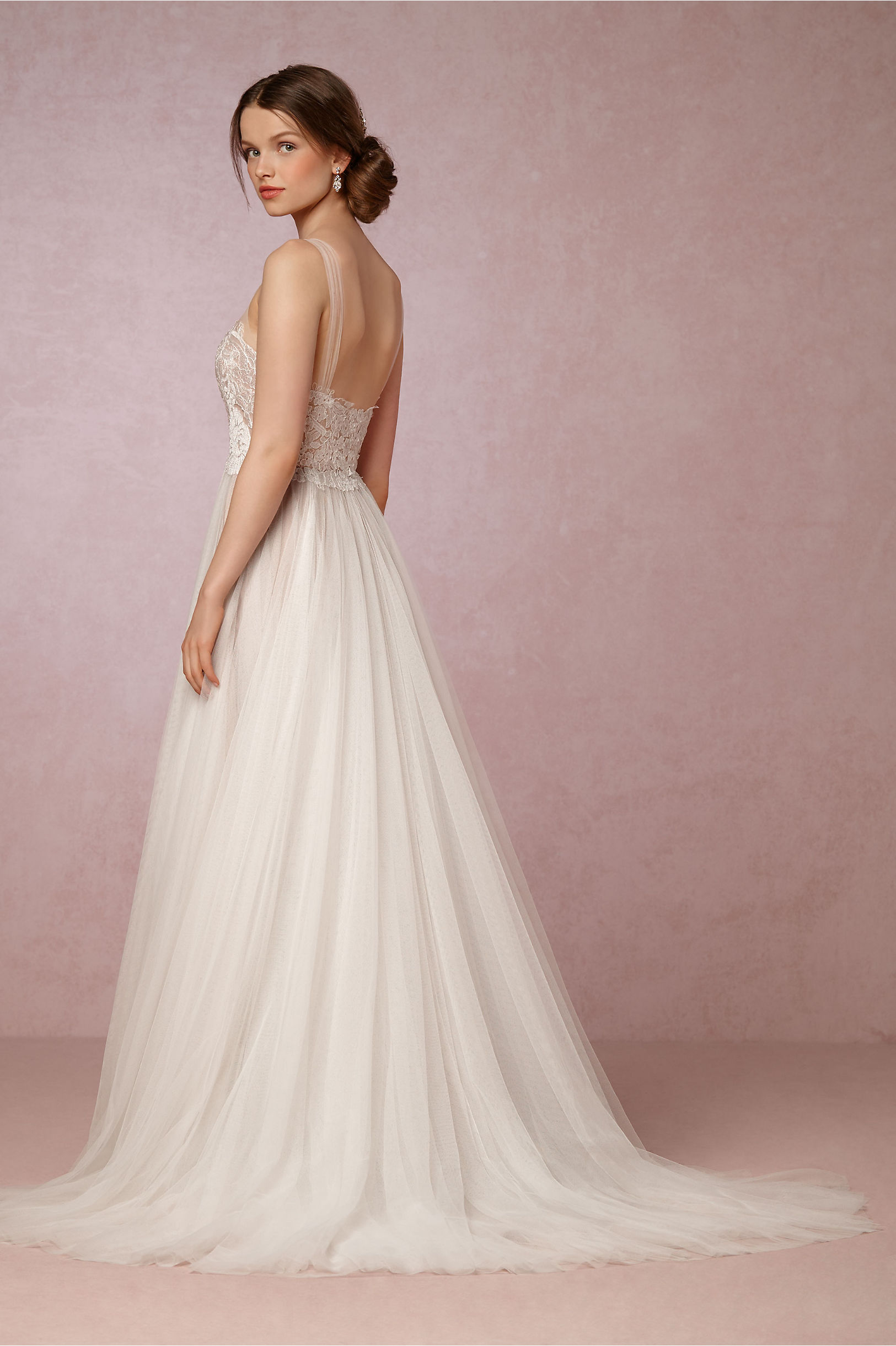 Penelope Gown Ivory/Bronze in Sale | BHLDN