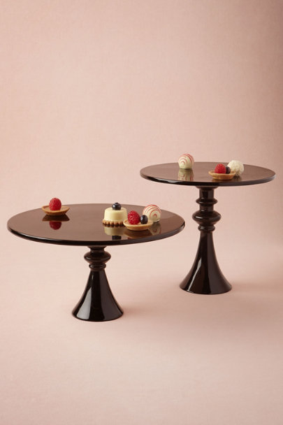black Silhouette Cake Stands | BHLDN