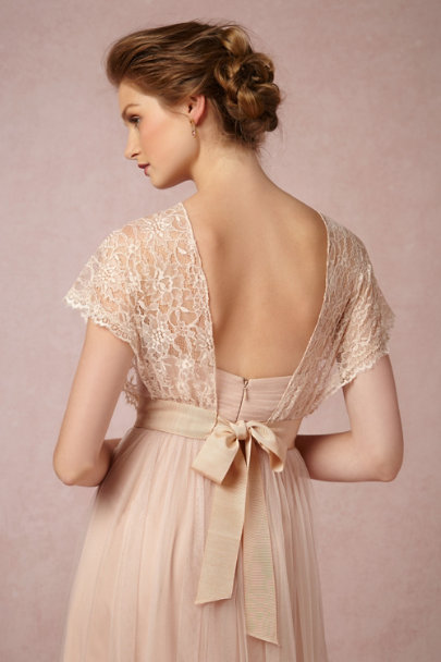 Jenny Yoo blush Iris Topper | BHLDN