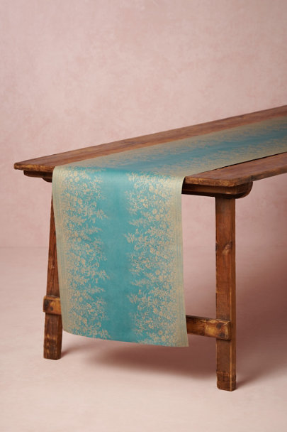 TURQUOISE Marseilles Table Runner | BHLDN