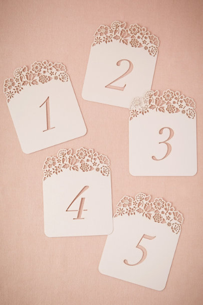 ivory Hilltop Table Number Cards (5) | BHLDN