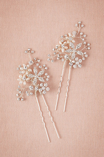 Silver Roseum Hair Pins (2) | BHLDN