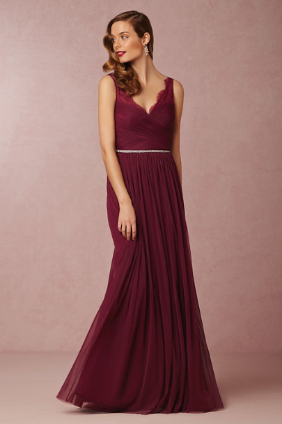 Hitherto black cherry Fleur Dress | BHLDN