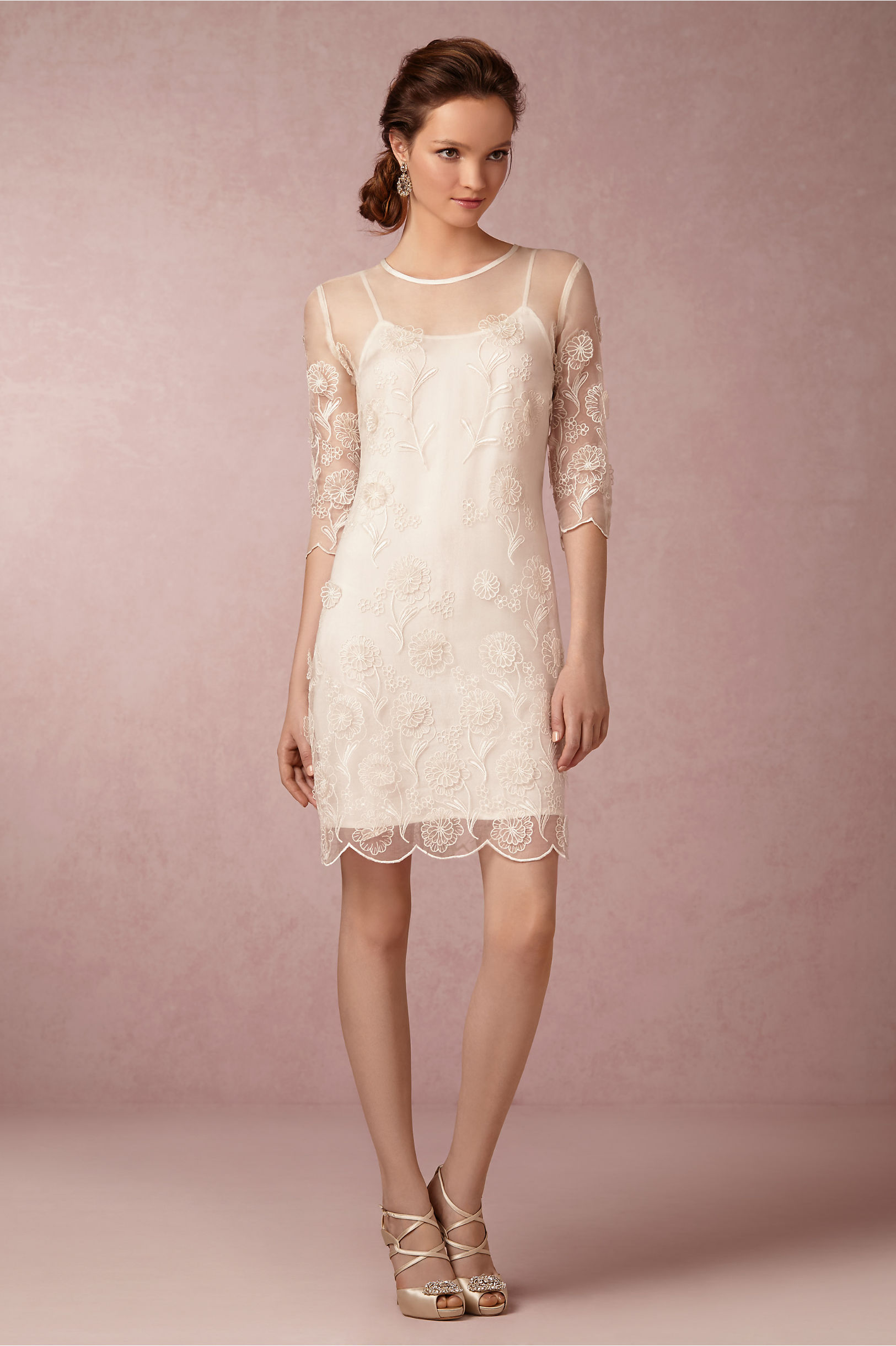 Yoana Baraschi Ivory Nora Sheath Dress Bhldn