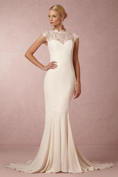 Lauren gown in bride bhldn for Nicole miller beach wedding dress