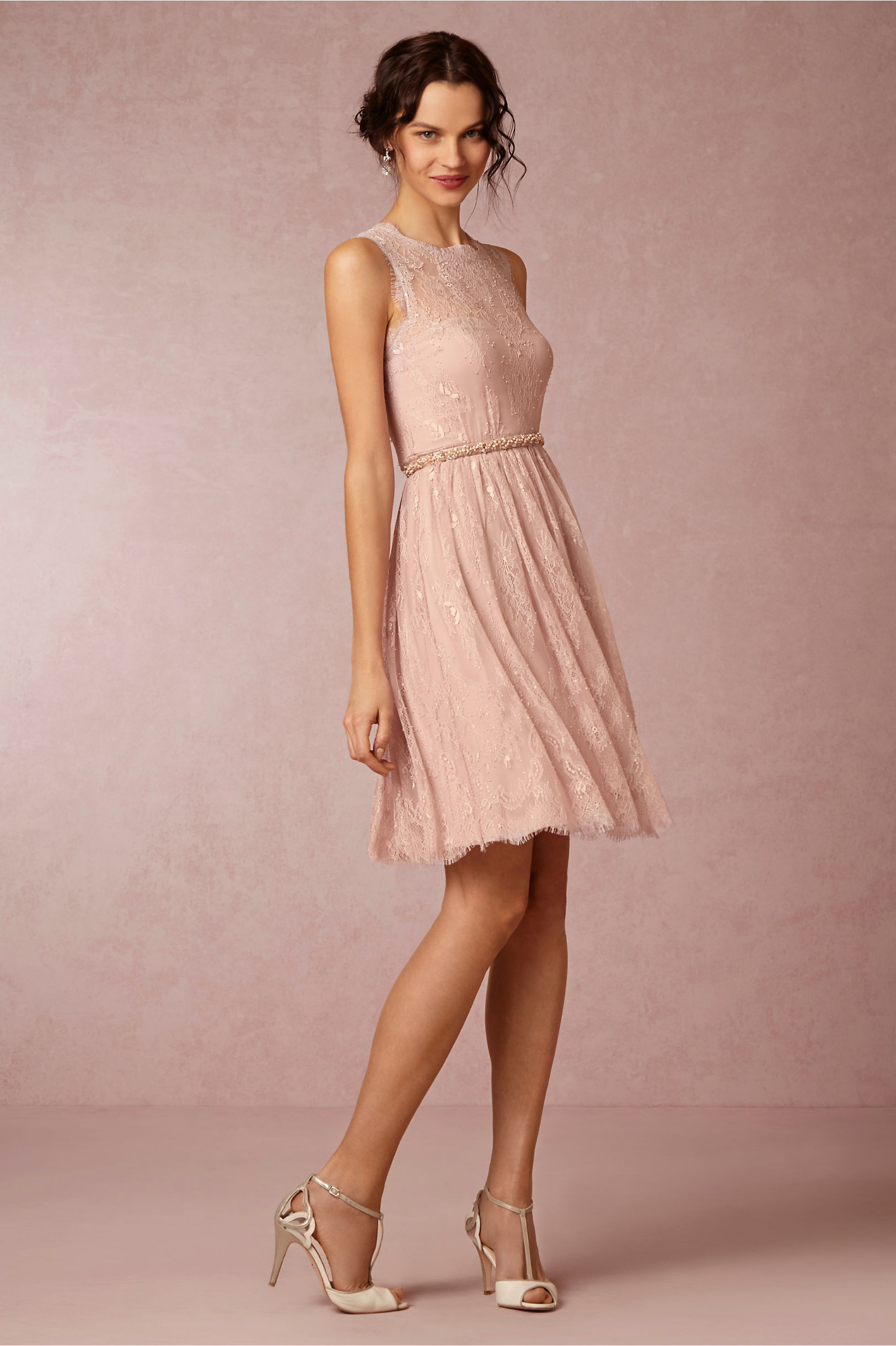 Hitherto Rose Quartz Celia Dress
